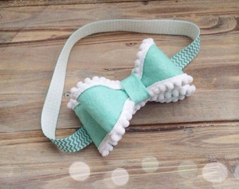 Felt and pom pom headband made to match Matilda Jane