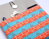 SALE - iPad Air case, iPad cover, iPad sleeve with 2 pockets, PADDED - Measuring tape (2)
