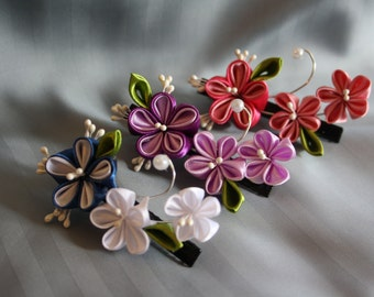 Kanzashi little flower (1pc)