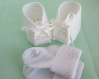 "14"" Baby Girl Cabbage Patch White Shoes with White Socks"
