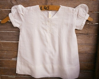 Lovely Vintage White Batiste DRESS Embroidery