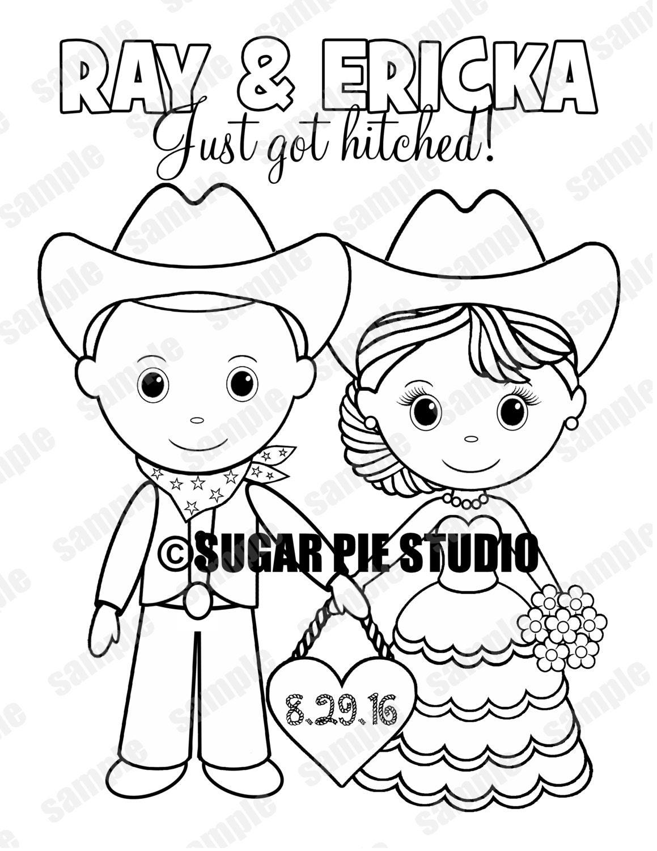 Western Country Cowboy Wedding