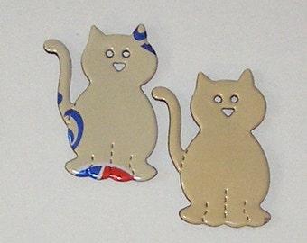 2 Kitty Cat Magnets - Vanilla Pepsi Cans