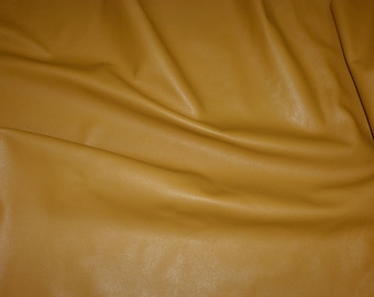 """Leather 5""""x11""""  DIJON Mustard Yellow DIVINE Line Top Grain Cowhide #711 2.5 oz / 1mm - PeggySueAlso"""
