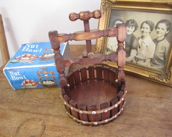 The Classic Wishing Well Nut Bowl with Cracker. Nut Cracker. NOS in original box.