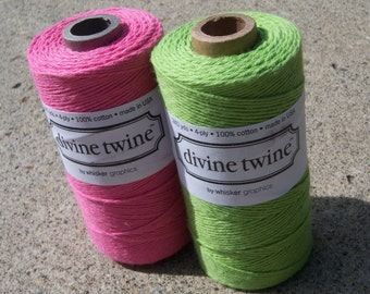 Bakers Twine - Divine Twine - 100% Cotton - Spring Garden Two Color Pack - Your Choice of Amount