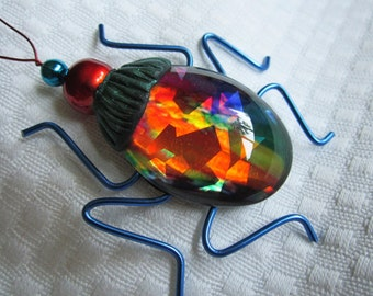 Whimsical bug art-insect sculpture-glass bug