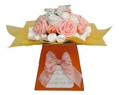 Baby Bouquet Spring Peach 19 items of Baby Clothes  Baby Shower Gift Baby Girl
