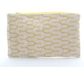 Gold and Cream Textured Zip Pouch
