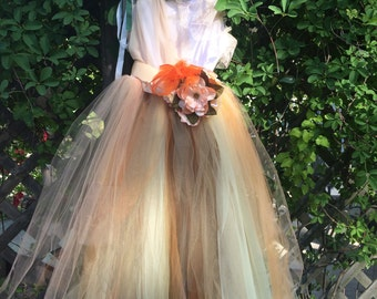 Fall Tutu Gown, dresses for junior bridesmaids, girls fall dress,