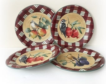 Lenox Winter Greetings Tartan Everyday Dinner Plates