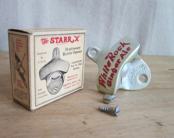 1950s Starr X White Rock Ginger Ale Bottle Opener