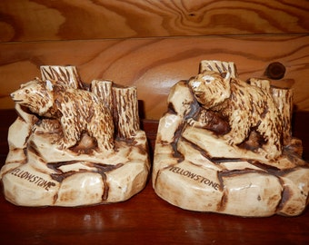 Yellowstone Bear Book Ends