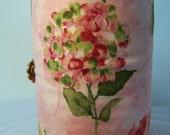 French press cozy, Bodum cozy sleeve, Pink Flowered Press pot cozie
