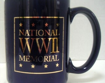 Vintage Mug,National WWII Memorial,Coffee Mug,Commemorative Mugs,Veterans,Keepsake