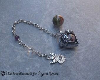 Angelic Interchangeable Sphere Dowsing Pendulum (DP0330)