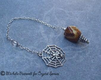 Ancient Wisdom Agate Dowsing Pendulum (DP0342)