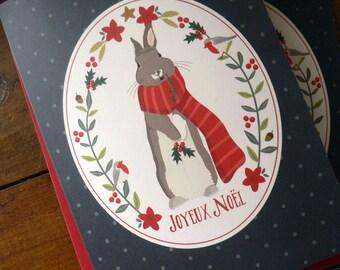 Set of 3 Christmas greeting cards