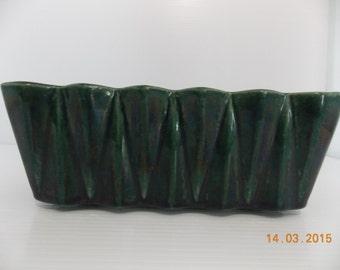 Vintage McCoy Dark Green Planter