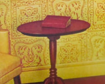 Queen Anne Tilt top Table 40008 New House of Miniatures Vintage