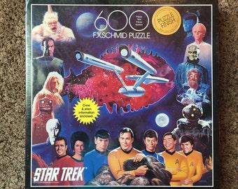 Vintage 90s STAR TREK Puzzle - UNOPENED - 600 piece - Exquisit Puzzle