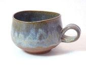 Handmade Mug Glazed in Dusty Lavender & Gold