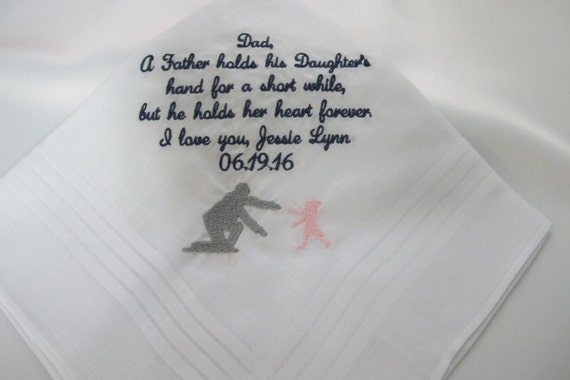 Wedding Handkerchief for the Father of the Bride