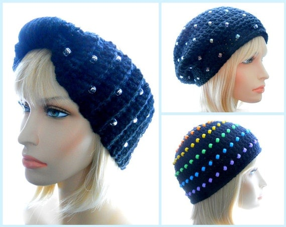 Crochet Hat Patterns With Beads : CROCHET PATTERNS: Collection of Beaded Headband and by ...
