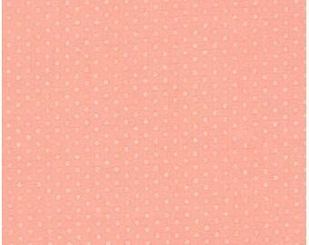 Fat Quarters ONLY - Spot On Pearlized Peach Mini Dots From Robert Kaufman