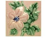 Pink floral tile