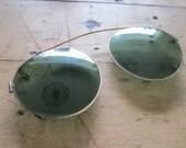 "Vintage Glasses, ""Fit-Overs"" Eyeglasses, Antique Glasses, Tinted Glasses, Green Glasses"