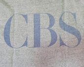 Vintage 80s Columbia Broadcasting System CBS Television TV Network Gray T-Shirt