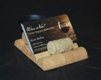 Wine Cork Buisness Card Holder Office Decor Dad Present