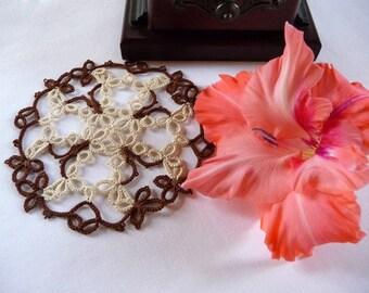 Handmade Lace Coasters  - handmade doily -  home decor - tatting coasters