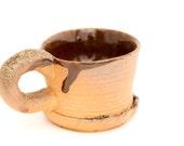 Wood Fired Ceramic Shino Glaze Stoneware Small Espresso Cup HT24