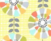 Fat Quarter fabric for quilt or craft  Michael Miller Petal Pinwheels in Canary Fat Quarter