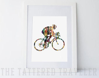 Cyclist Magazine Strip Art Print