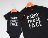 New Father & Baby gift set, unique onesie/ babygrow T-shirt combo for Daddy + Son or Daughter, choose your size, perfect for Father's day