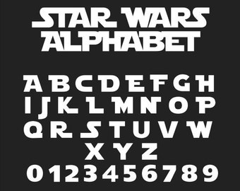 Star Wars Font, Star Wars Alphabet, Star Wars Svg, Star Wars Cut Files, Studio Files, Cricut Cut ...