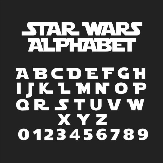 Hervorragend Star Wars Font Star Wars Alphabet Star Wars Svg Star Wars RG08