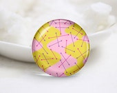 Handmade Round Glass Photo Cabochons-Tiling (P3255)