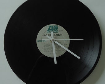 Foreigner Double Vision Vinyl Record Clock
