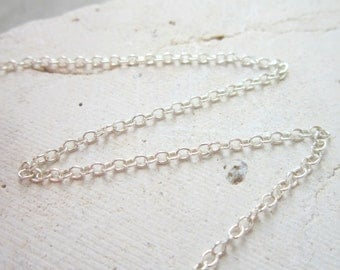 "Sterling Silver Chain in 12""  14""  16"" or 18"" Length with an Extender"