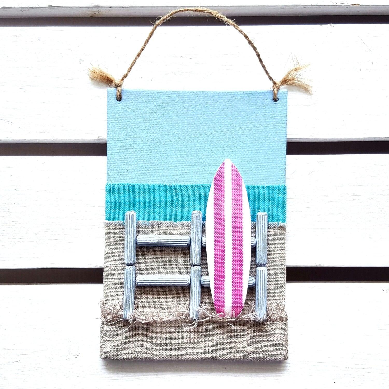 Surf decor beach wall decor 3d surfboard wall decor for Beachy decor items