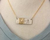 Handstamped Cross Necklace