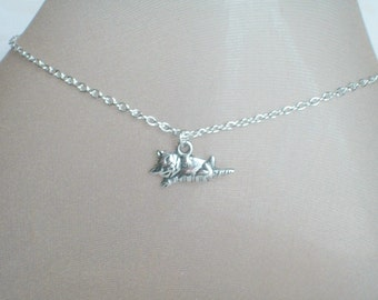 Cat Anklet, Silver Lounging Kitty Cat, Feline Jewelry, Cat Lover, Crazy Cat Lady, Hello Kitty, Kitty Cat Anklet, Under 15 Dollars, Lil Bub