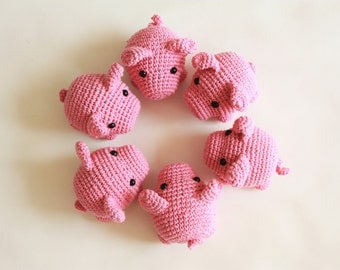 PATTERN - Little Pig - Pig Crochet Amigurumi Tutorial - Instant Download - Printable - In English