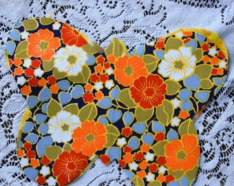24 Pre Cut Assorted Fabric Cut into Butterflies for Applique Patches
