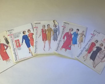 5 Pack Assorted Vintage Simplicity Sewing Patterns SIM 5549
