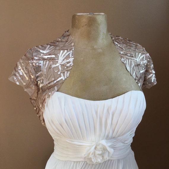 Items Similar To Deep Champagne Wedding Bolero Bridal